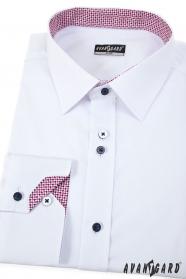 Biela pánska košeľa Trikolóra