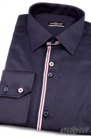 Pánska košeľa SLIM dlhý rukáv - Modrá