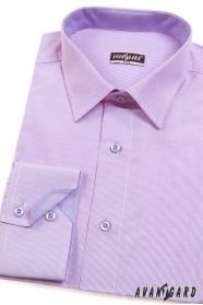 Preštíhleá košeľa SLIM lila s jemnou štruktúrou