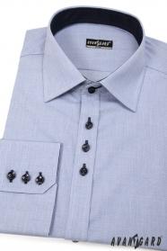 Pánska košeľa SLIM modrá s tmavými gombíkmi