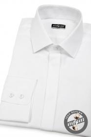 Pánska košeľa SLIM krytá léga - Biela