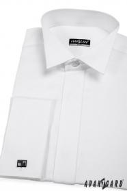 Pánska fraková košeľa SLIM biela