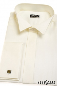 Pánska fraková košeľa SLIM MG - V2-Smotanová