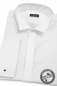 Pánska fraková košeľa SLIM Biela hladká