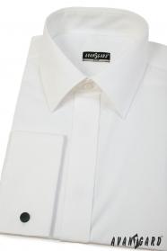 Pánska košeľa Slim smotanovej farby s francúzskou manžetou