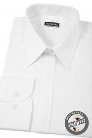 Pánska košeľa SLIM biela s leskom EASY CARE