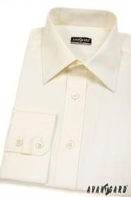 Pánska košeľa SLIM s dlhými rukávmi - Smotanová