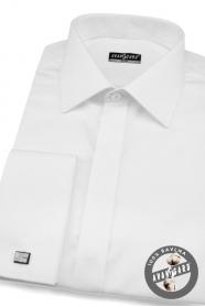Pánska košeľa SLIM biela hladká s leskom