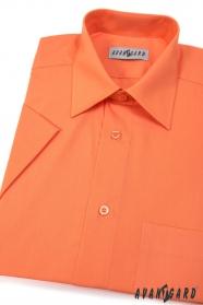 Pánska košeľa  krátky rukáv - Pomarančová