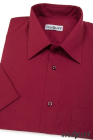 Pánska košeľa  krátky rukáv - Bordová