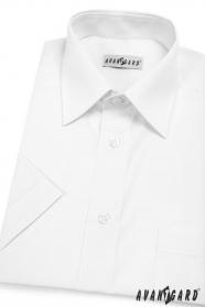 Pánska košeľa  krátky rukáv - V1-Biela