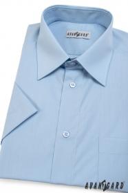 Pánska košeľa  krátky rukáv - Svetlo modrá