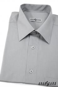 Pánska košeľa  s krátkym rukávom - Šedá