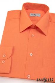Pánska košeľa  dlhý rukáv pomarančová