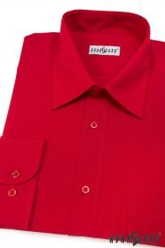 Pánska košeľa  s dlhými rukávmi - Červená