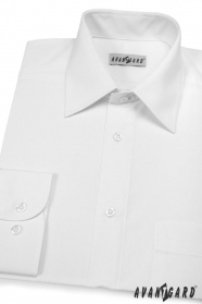 Pánska košeľa  dlhý rukáv - V1-Biela