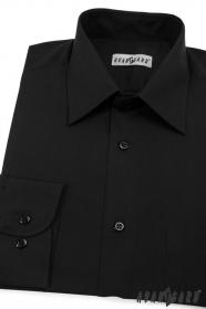 Pánska košeľa  dlhý rukáv - V23-Čierna