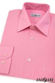 Pánska košeľa  dlhý rukáv - Ružová