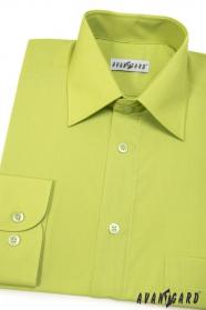 Pánska košeľa  dlhý rukáv - V30-Kiwi
