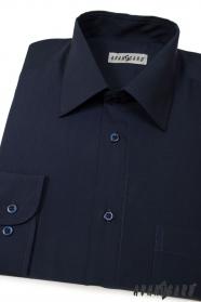 Pánska košeľa dlhý rukáv tmavo modrá