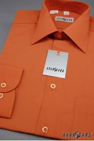 Pánska košeľa  dlhý rukáv - Tehlová