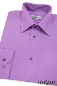 Pánska košeľa  dlhý rukáv - Fialová