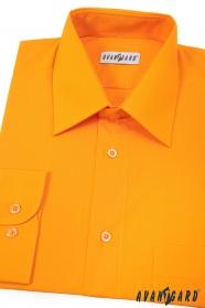 Pánska košeľa  dlhý rukáv - Svetlo oranžová