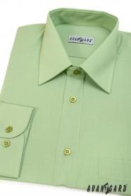 Pánska košeľa  dlhý rukáv - V8-Zelená
