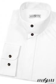Pánska košeľa so stojačikom biela