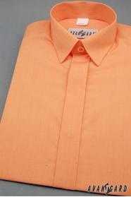 Chlapčenská košeľa s krytou légou pomarančová