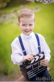 Chlapčenská košeľa s krytou légou biela