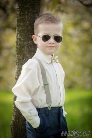 Smotanová chlapčenská košeľa s krytou légou