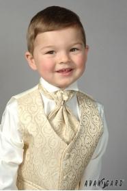 Chlapčenská fraková košeľa smotanová