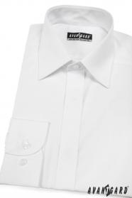 Pánska košeľa  s krytou légou - V1-Biela