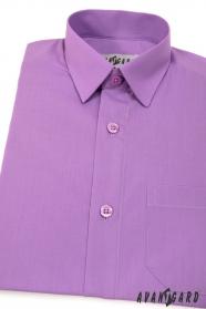 Chlapčenská košeľa  fialová