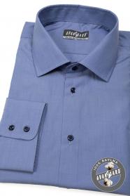Modrá pánska košeĺa 100% bavlna