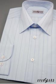 Pánska košeľa modrá so širokými prúžkami