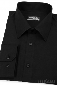 Čierna pánska košeľa Avantgard s dlhým rukávom