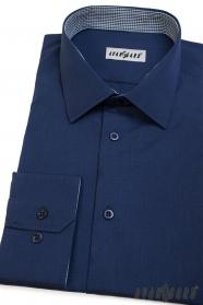 Modrá pánska košeľa Avantgard dlhý rukáv