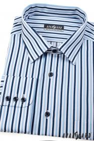 Pánska prúžkovaná košeľa s dlhým rukávom