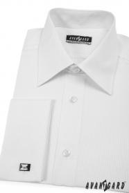 Pánska košeľa  MG - Biela s jemným prúžkom