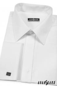 Košeľa na manžetové gombíky biela