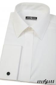 Pánska košeľa smotanovej farby na manžetové gombíky