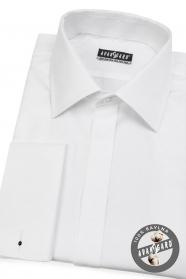 Pánska košeľa na MG LUX s krytou legou - Biela