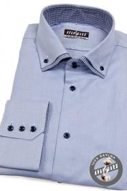 Pánska košeľa modrá vnútri kockovaná
