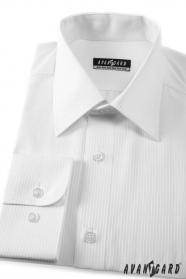 Pánska košeľa  dlhý rukáv - 2111 - Biela