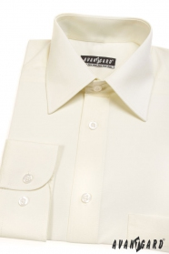 Pánska košeľa  dlhý rukáv - Smotanová 527-2