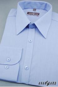 Pánska košeľa dlhý rukáv stredne modrá
