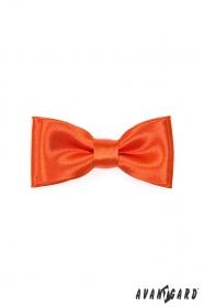 Tehlovo oranžový chlapecký motýlik