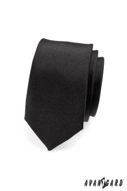 Kravata SLIM čierna MAT